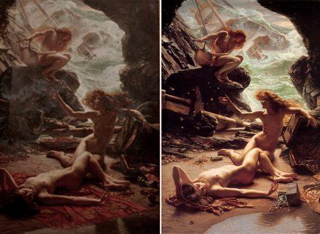 """Edward Poynter – Le due versioni de """"La Grotta Della Tempesta Ninfe"""""""