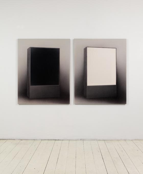 senza-titolo-2011-inchiostro-e-tempera-acrilica-su-tela-cm-130hx104-x2-dittico