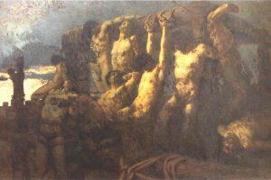 Gaetano Previati – Gli Ostaggi Di Crema – 1879