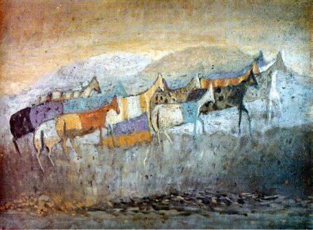 Zoran Music – Cavallini al pascolo a Dachau