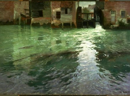 Frits Thaulow – Water Mill – 1892