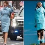 Distrutta anche la statua di Melania Trump